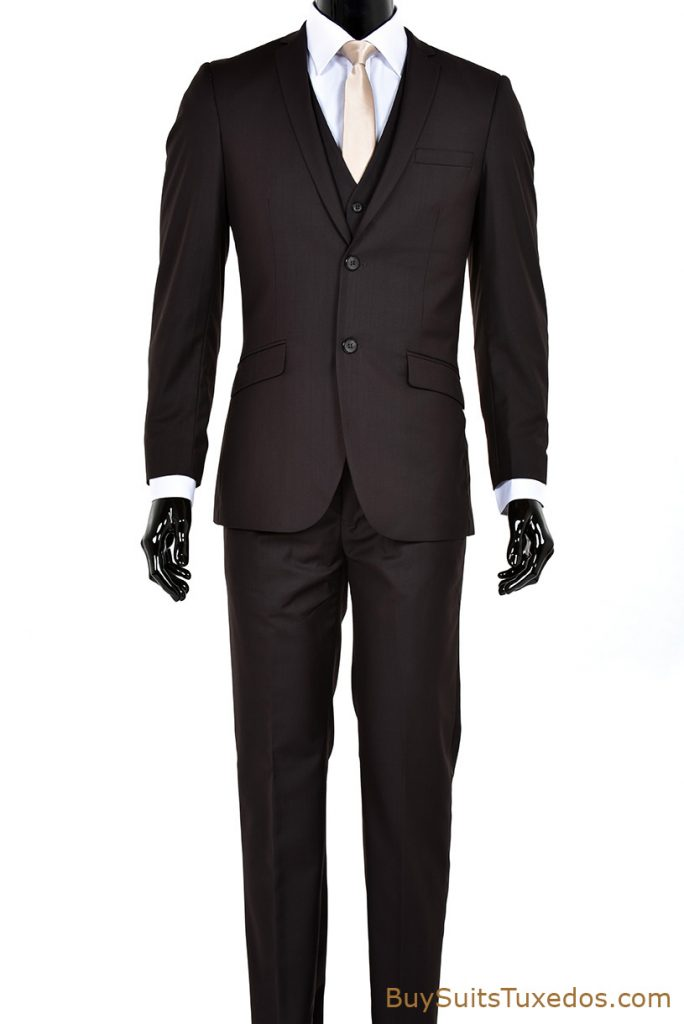 sale brown slim fit suit