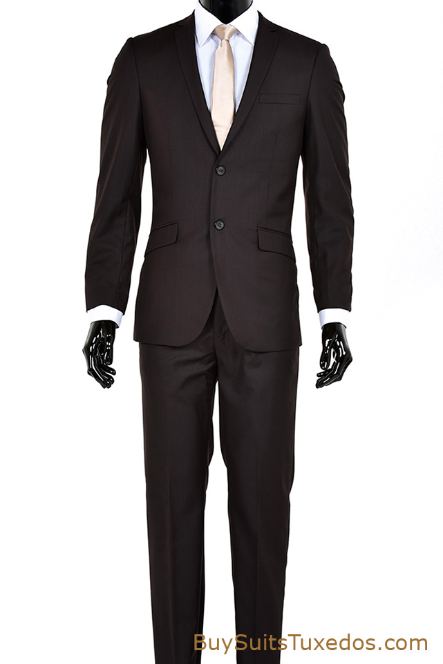 Extra slim fit suits are slim fit suits that are even tighter fitting than basic slim fit suits. These extra slim fit suits are designed to literally fit like a glove and are recommended for slim physique men only for a perfect fit.
