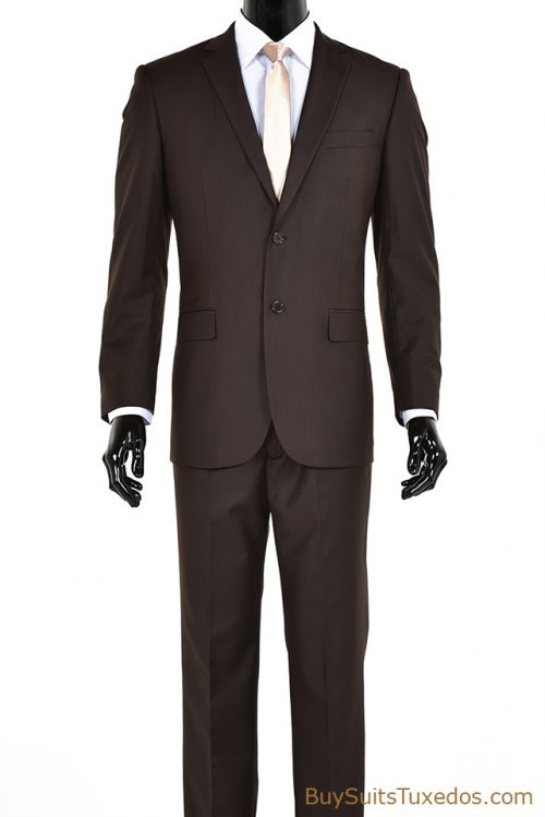 Brown Italian designer men's suit