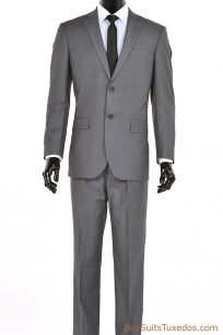 men's two piece grey suit