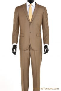 taupe two piece men's suit