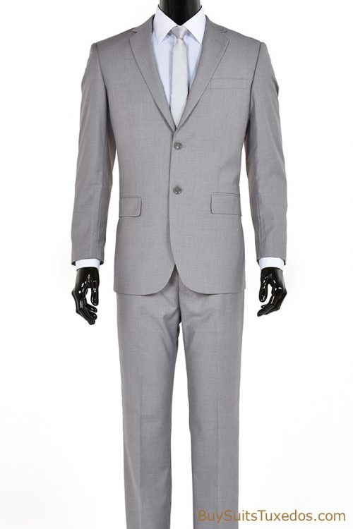 two piece grey suit