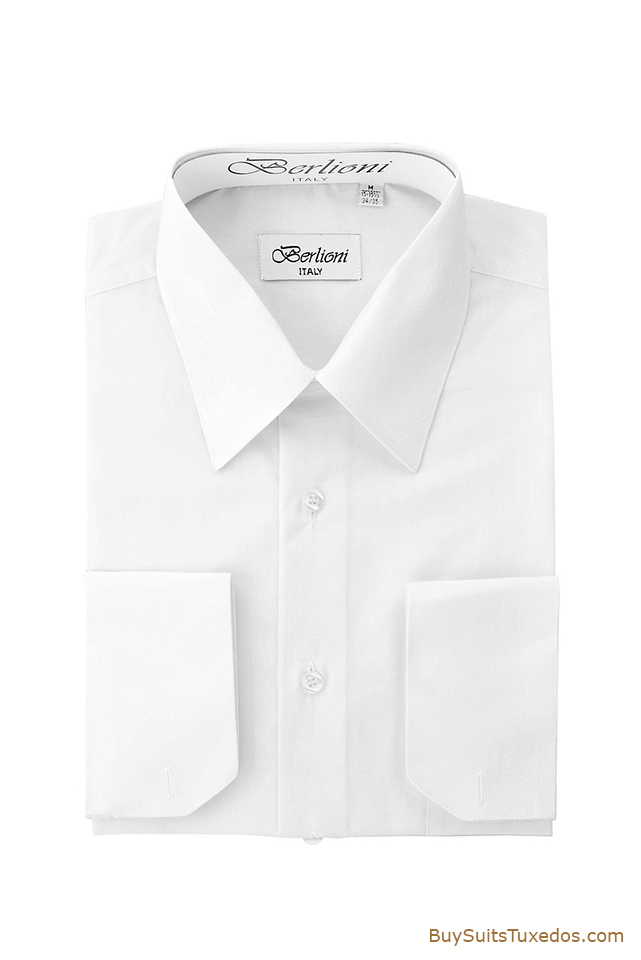 Shop For Men 39 S Dress Shirts French Convertible Cuff White