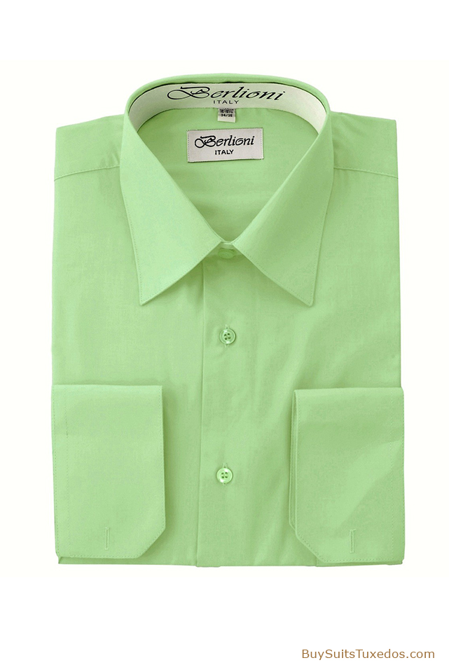 Mint French Convertible Cuff Shirt King Formal Wear