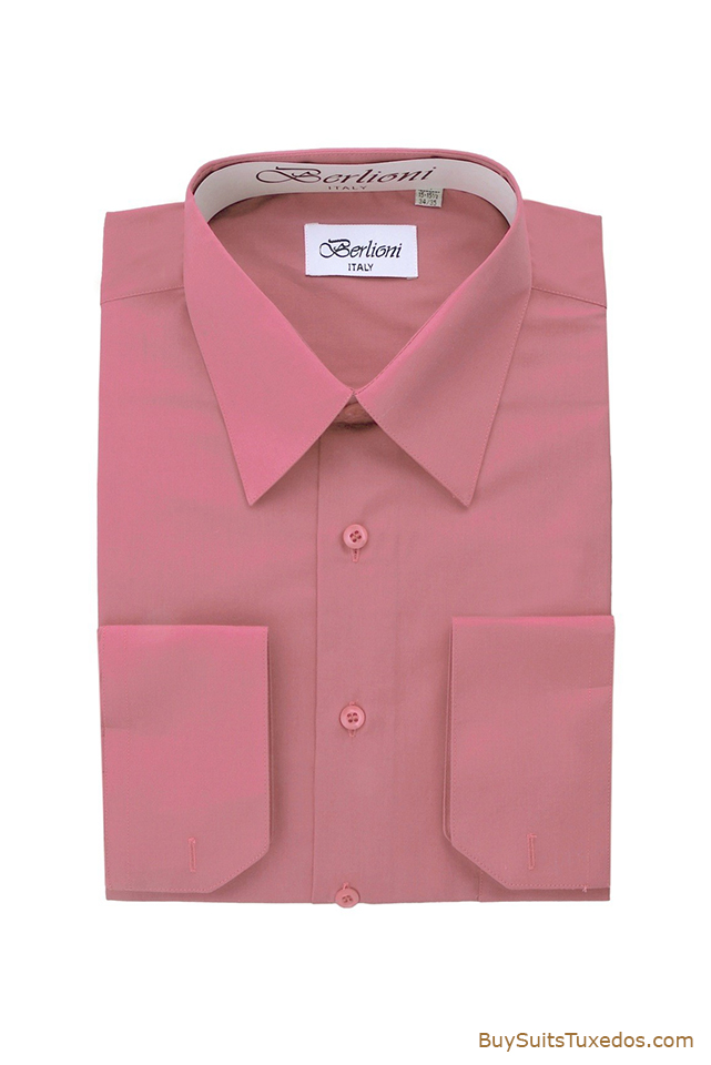Rose French Convertible Cuff Shirt King Formal Wear