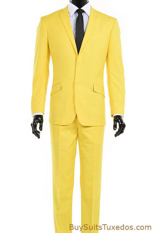 Yellow men's suit