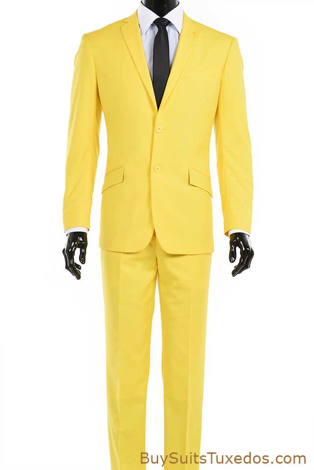 Menu2019s Two Piece Yellow Suit Modern Fit | King Formal Wear