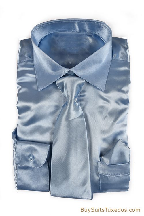 Baby Blue satin shirt