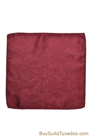 burgundy pocket square