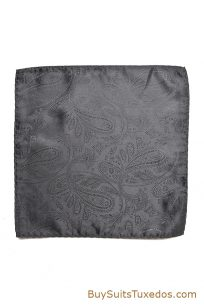 dark grey pocket square