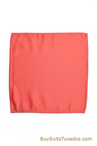 salmon colored suit hanky
