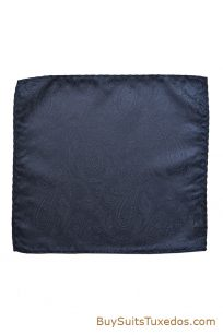 navy blue pocket square