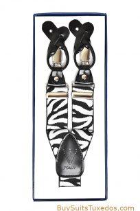 zebra y-back suspenders