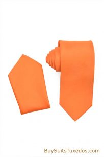 orange mens tie