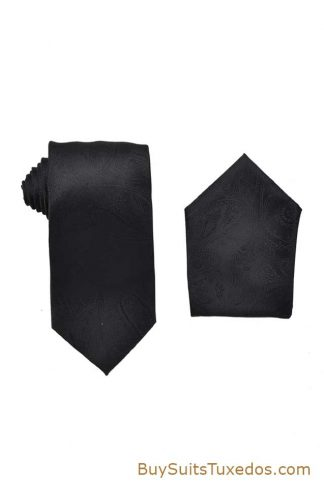 black tie and pocket square