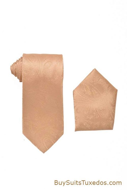 gold paisley pattern tie
