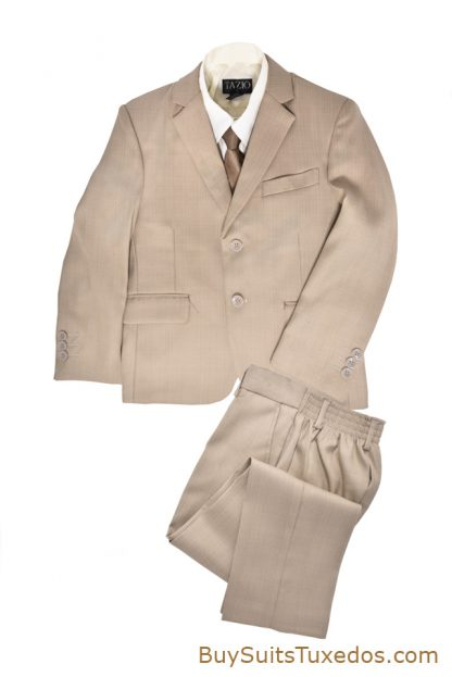 tan boys suit