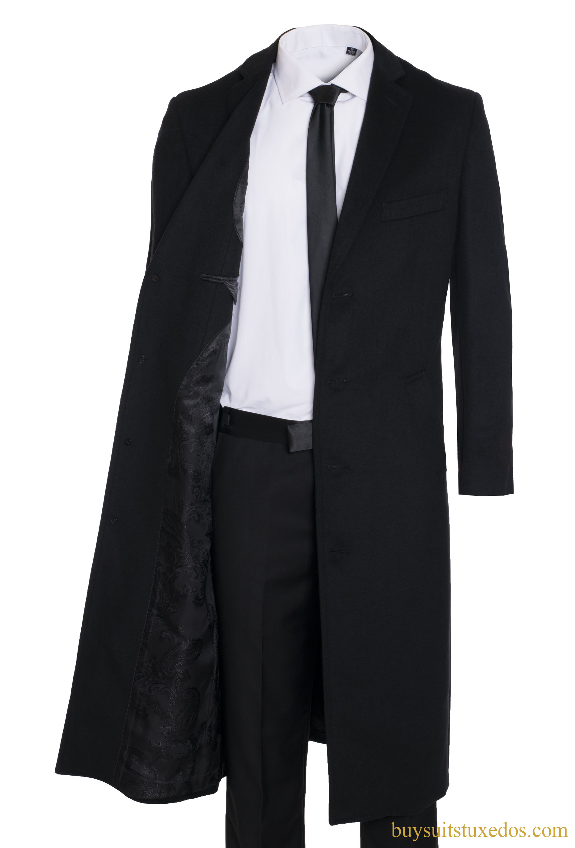 Men S Premium 100 Wool And Cashmere Long Jacket Wool And